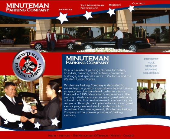 Old Minuteman Parking Website