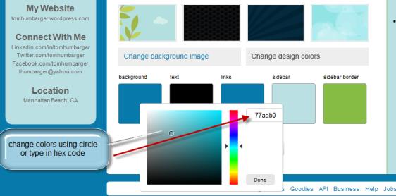 Twitter Change Colors Screenshot