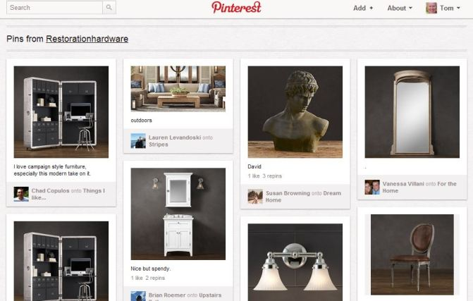 Restoration Hardware on Pinterest